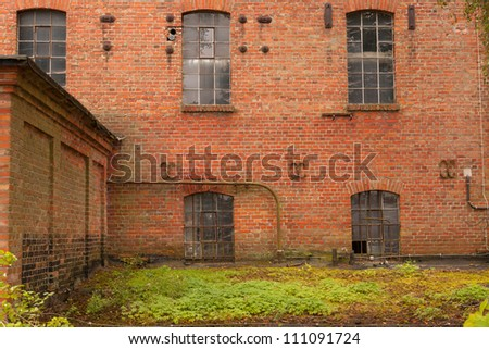 An old almost ruined factory building