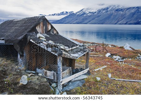 an old and abandoned hunters' hut in east greenland