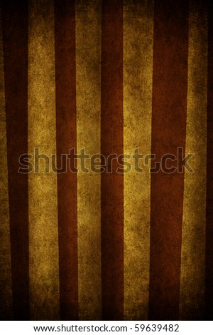 An old and grunge curtain with strips white and brown