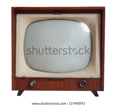an old antique television