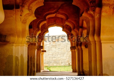 an old archway at hampi  india