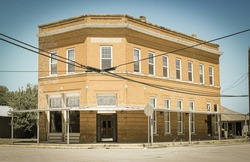 An old bank in old downtown Venus, Texas