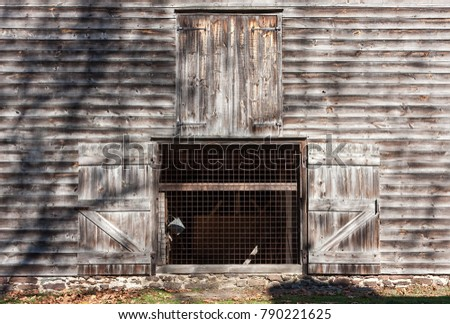 An old barn in Allaire Village, New Jersey. Allaire village was a bog iron industry town in New Jersey during the early 19th century
