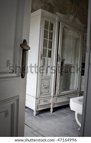 An old bathroom - stock photo