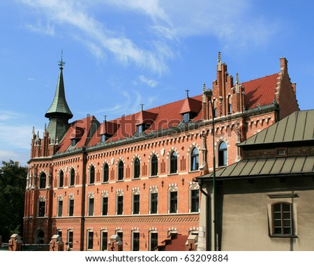 An old brick building in Cracow