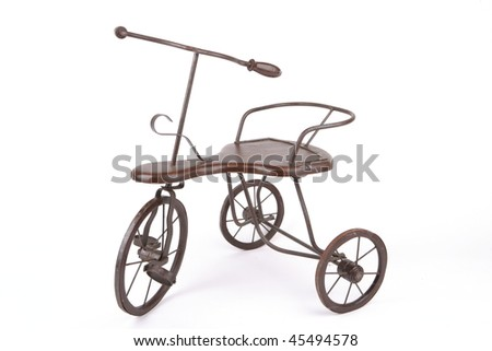 an old cast iron tricycle