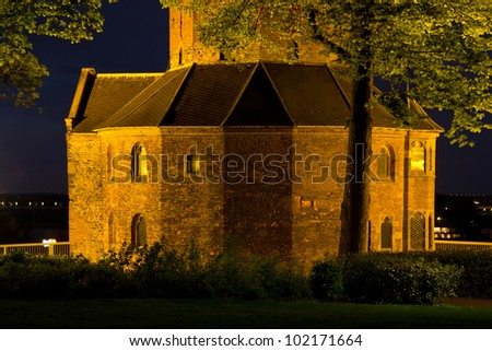 An old chapel at night in the old city of Nijmegen in the Netherlands. Aged over 2000 years, Nijmegen is the oldest city in the country.