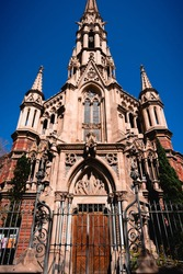 An old chruch in barcelona