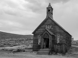 An Old Church in the Ghost Town of Bodie California