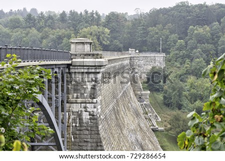 an old dam with an attached...