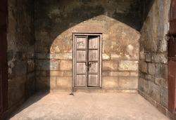 An old door in Purana Qila