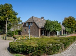 An old Dutch farmer house in Geldrop Noord-Brabant in The Netherland