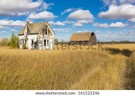 an old farm yard on the...