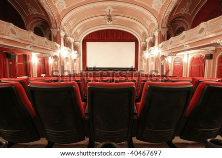 An old fashioned beautiful cinema in Miskolc, Hungary.