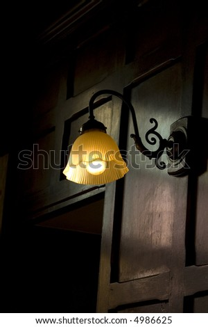 Old Fashioned Wall Lamp Shades : An Old Fashioned, Wall-Mounted, Lamp Shade Stock Photo 4986625 : Shutterstock