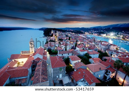 An old fortified town in South Eastern Europe - Rab, Croatia