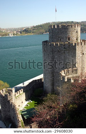 an old fortress (Rumeli fortress in Istanbul)