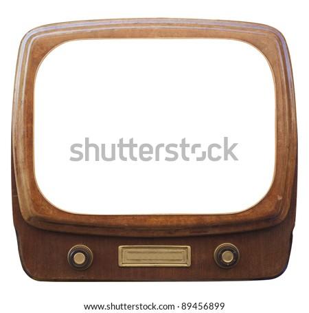An old framed TV