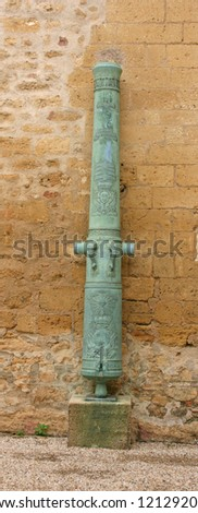 an old french cannon in the castle of Salon de provence