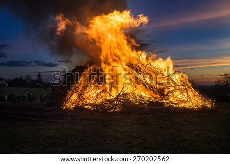 An old german tradition:easter fire