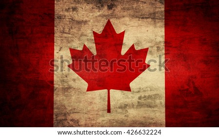 an old grunge flag of canada...