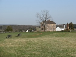 An old house stands in Manassas National Battlefield Park.