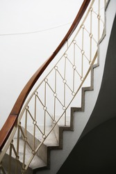 an old indoor edifice stairs