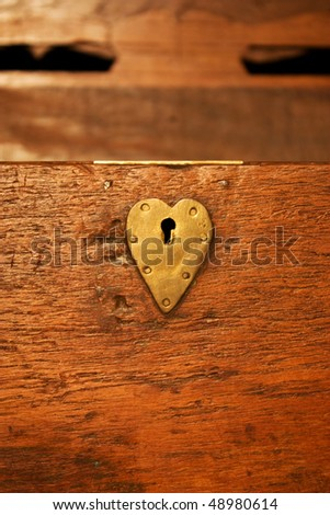An old lock on a safety desposit box (200 years old, Italy) - stock photo