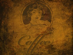 An old looking texture with the words coffee, nice for a background. /Coffee