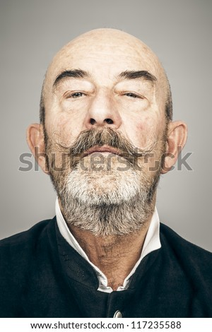 An old man with a grey beard
