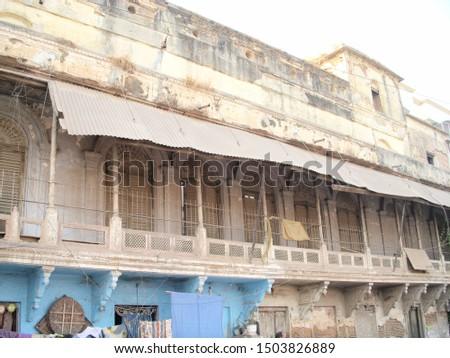 An old market Building in Varanasi  #1503826889