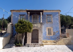 An old Mediterranean style house on the island of Zakynthos, Greece.