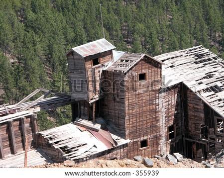 An old mining mill near Zortman, Montana