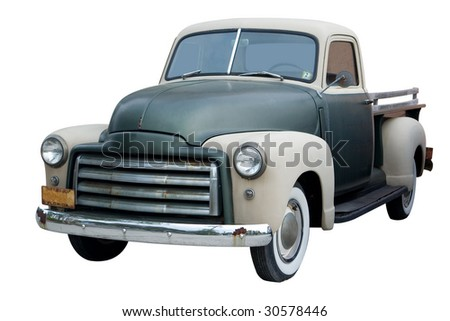 An Old Pickup Truck from the 1950s
