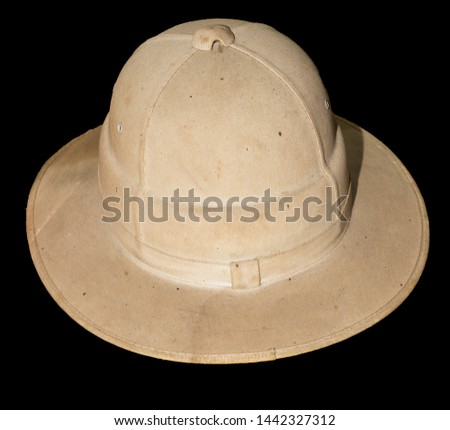 595139c6c0c9d an old pith helmet this one was using in mining