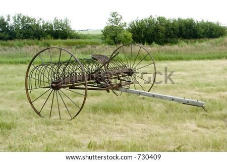 An old rake on the prairie