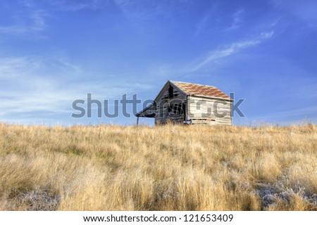An old rustic barn on the Palouse near the Idaho Washington border on Hwy 6.