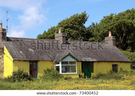 an old rustic country cottage in county kerry