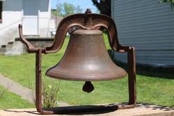 An old rusty school bell
