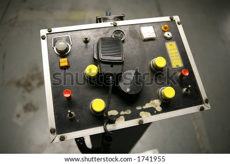 An old ships control panel (Focus on CB Radio)