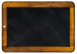 An old slate framed with wood