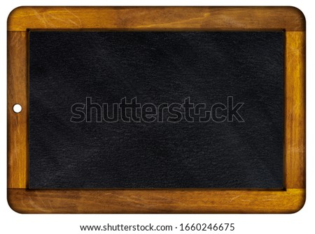 An old slate framed with wood Foto d'archivio ©