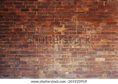An old stained brick wall.