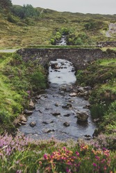 An old stone bridge in a countryside of Scotland