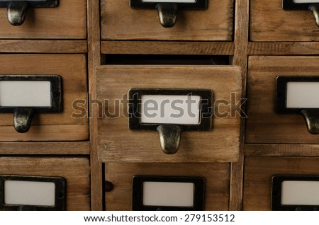 an old style wooden cabinet of...