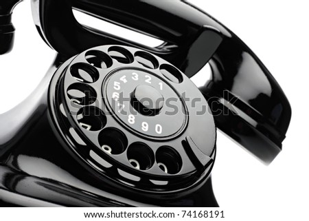 an old telephon with rotary dial