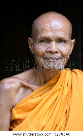 An old Thai monk.