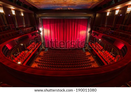 an old theater auditorium, interior #190011080