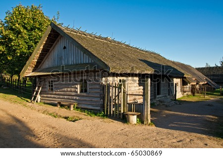an old traditional belorussian house in the countryside