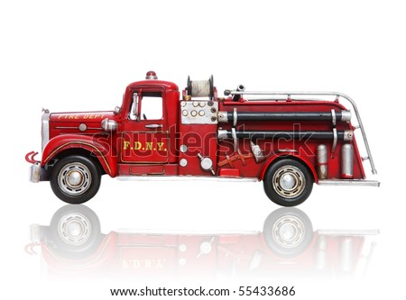 an old vintage fire truck...